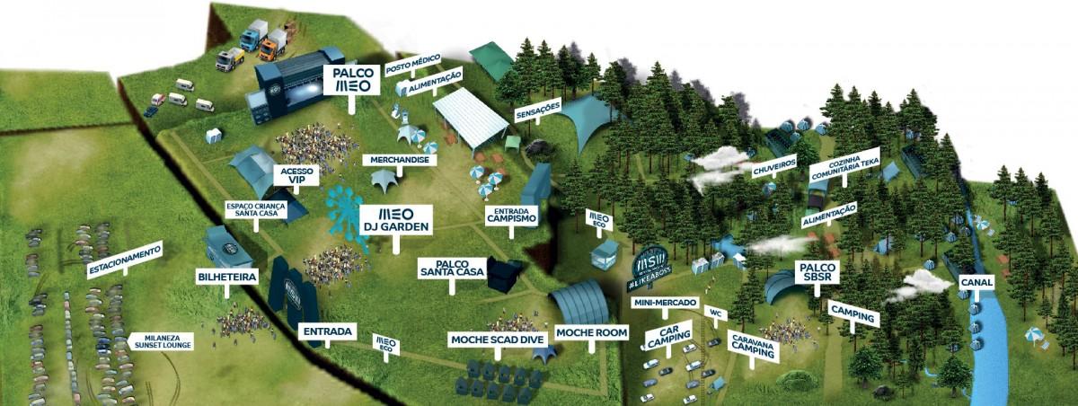 Mapa recinto MEO Sudoeste